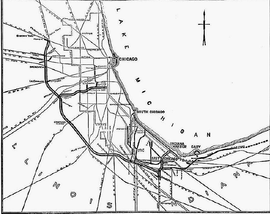 Indiana Harbor Belt Railroad Archive 1919 MAP