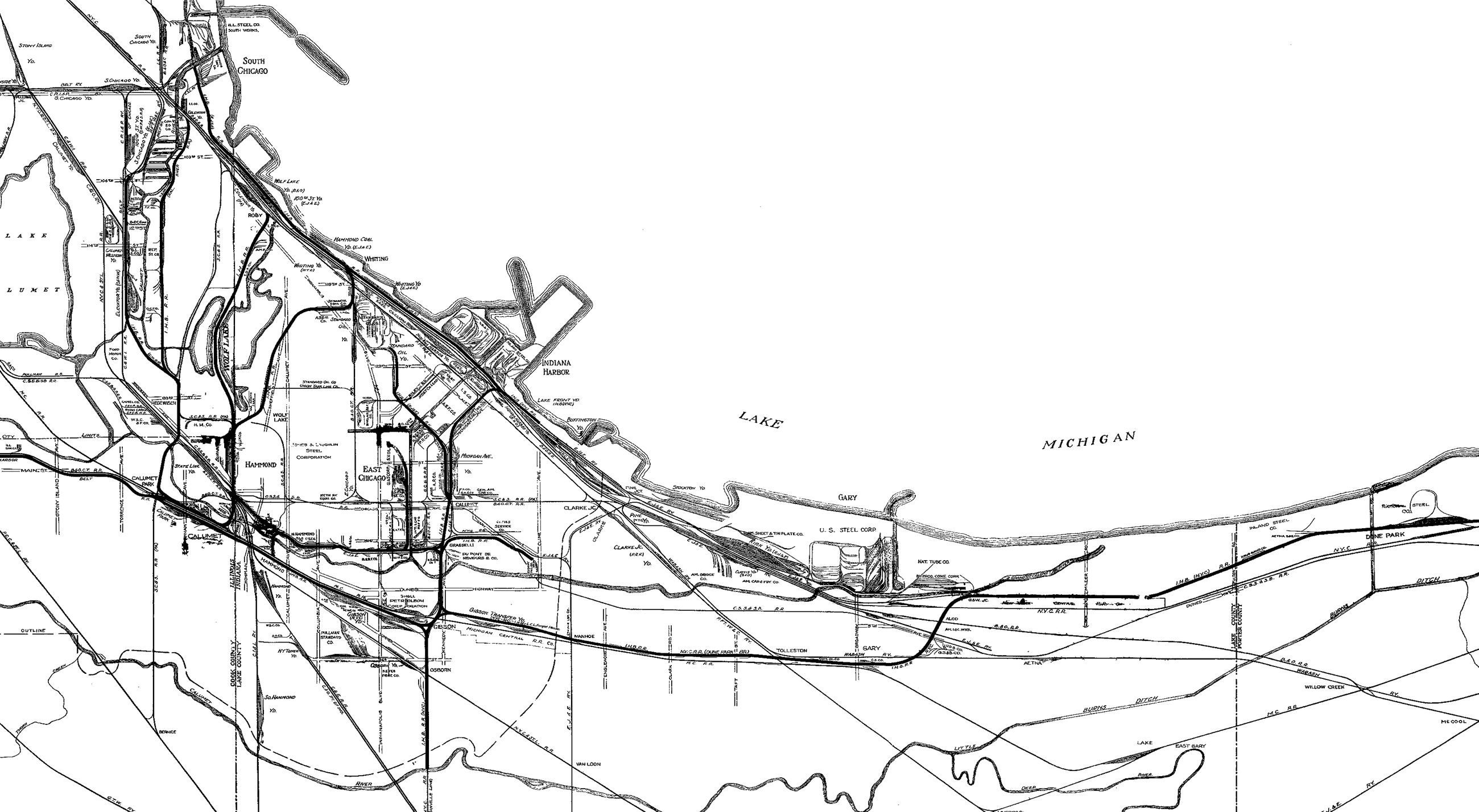 Indiana Harbor Belt Railroad Archive MAPS