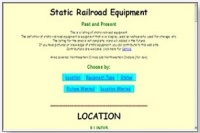 Static Rail Equipment